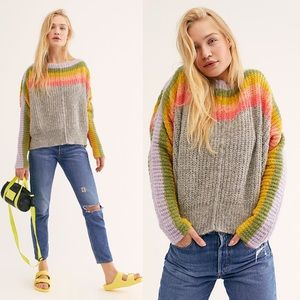 Free People Rainbow Sweater